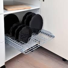 panier coulissant cuisine leroy merlin rangement coulissant 1 panier assiettes pour meuble de 60 cm