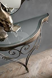 glass and metal console table contemporary target point lara glass and metal console table opt