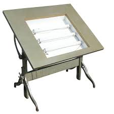 Drafting Table Mayline Mayline Lighted Drafting Table Description Vintage Drafting