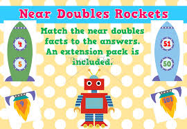 near doubles rockets fun printable classroom games and