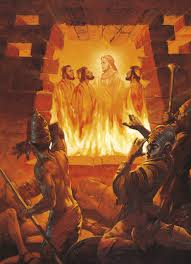 three men in the fiery furnace shadrach meshach and abednego in