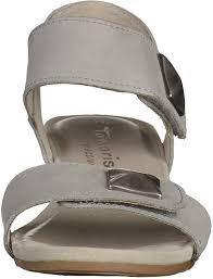 tamaris women sandals 1 28201 26 200 gray size 37 41 leather touch