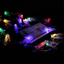 20 pcs clips 220cm photo clip light led light strings home picture