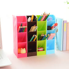 4pcs set candy color office desk organizer stationery holder
