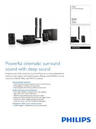 Buy Philips Hts5520 94 5 1 Dvd Home Theatre System Online At Best - htd5540 94 pss aenin loudspeaker hdmi