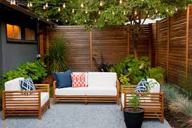 Modern Outdoor Furniture Ideas 10 Ways To Amp Up Your Outdoor Space With String Lights Hgtv U0027s
