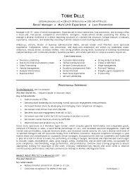 Resume Samples Retail by General Manager Resume Example Restaurant Duties For Resume
