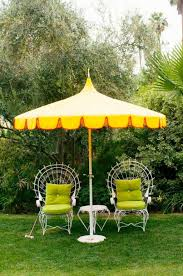 Yellow Patio Chairs Yellow Patio Umbrella With Metal Furniture Enjoy The Yellow Patio