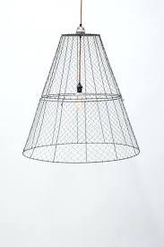 Chicken Wire Chandelier Wire Basket Drum Shade Turcolea Com