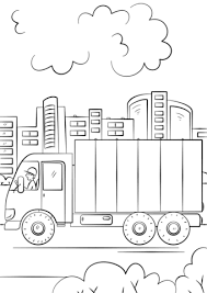 delivery truck coloring free printable coloring pages