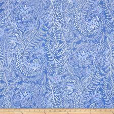 kaffe fassett home decor fabric kaffe fassett ferns periwinkle discount designer fabric fabric com