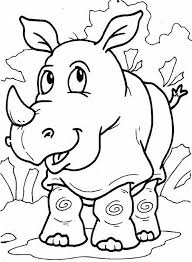 rhinoceros images cartoon animals homepage clip art library
