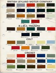 bmc bl paint codes and colors how to library the triumph