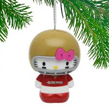 san francisco 49ers hello kitty ornament nflshop com