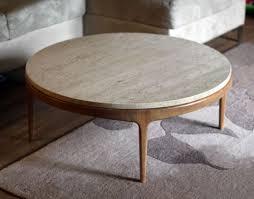 mid century modern round coffee table rascalartsnyc regarding two