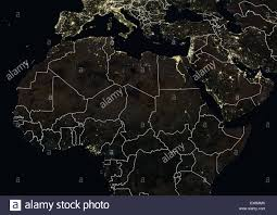 World At Night Map by Africa Night Satellite Image Earth Stock Photos U0026 Africa Night