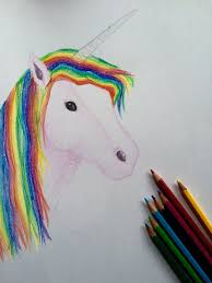 color colorful cute draw drawing horse magic paint