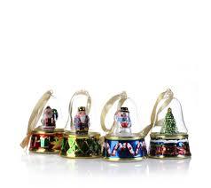 mr set of 4 bells of musical ornaments qvc uk