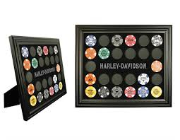 Harley Home Decor by Harley Davidson 2 In 1 Poker Chip Collector U0027s Frame 6925d