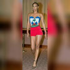 Haitian Flag Day Custom Haiti Flag Stretch Sweetheart Cut Romper Romper Haitian