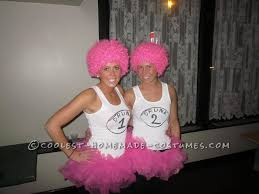 Princess Lolly Halloween Costume Homemade Drunk 1 Drunk 2 Couple Costume Pink Twist