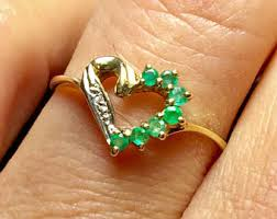what is a friendship ring vintage emerald ring etsy