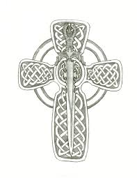 sword n celtic cross tattoo design