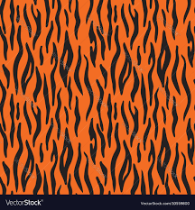 halloween background repeating abstract animal print seamless vector pattern with tiger stripes