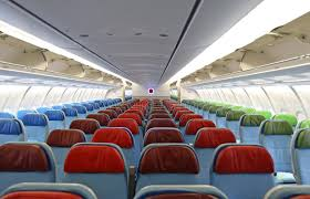 Airplane Interior Airplane Interior With The Seats Royalty Free Stock Photos Image