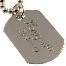 mens dog tags engraved sterling silver mens dog tag personalised engraved