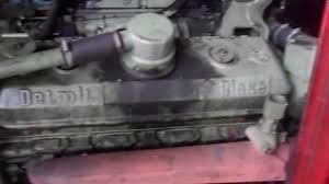 som de um motor detroit diesel v8 71 turbo youtube