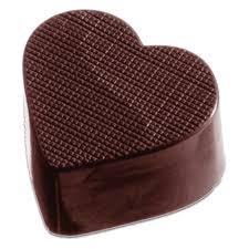 heart chocolate textured heart chocolate mold