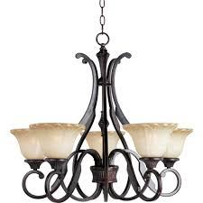 maxim lighting allentown 5 light oil rubbed bronze chandelier