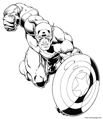 superhero captain america 40 coloring pages printable