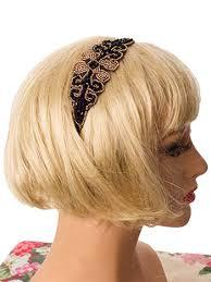 beaded headband black gold fleur de lis beaded headband vintage inspired hair