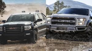 all ford f150 2016 gmc all terrain x vs 2017 ford f 150 raptor
