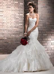 low back tulle chapel train sweetheart mermaid 2013 wedding dress