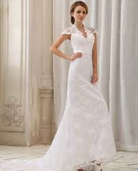 cap sleeve wedding dress simple lace wedding dresses with sleeves for modest look cherry