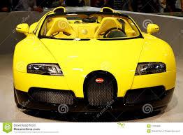 yellow bugatti bugatti veyron 16 4 grand sport editorial stock image image