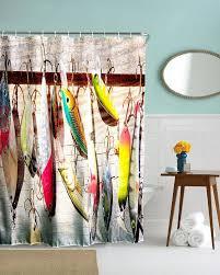 auãÿenleuchten design 70 beige fishing lures angler fish fishman fabric bathroom