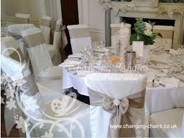 Champagne Chair Sashes Wedding Venue Decoration At Colwick Hall Changing Chairs Wedding