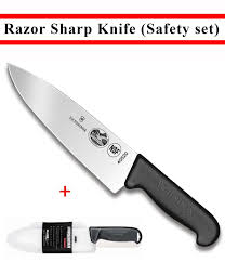 How To Sharpen Kitchen Knives At Home Amazon Com Victorinox Swiss Army Fibrox Straight Edge Chef U0027s