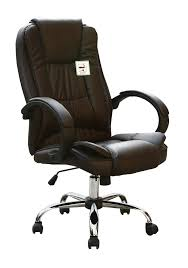 Executive Brown Leather Office Chairs High Back Executive Swivel Computer Desk Faux Leather Office Chair