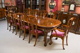 antique queen anne dining room set antique burr walnut queen anne