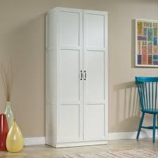 sauder kitchen storage cabinets amazon com sauder storage cabinet soft white finish kitchen dining