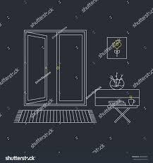 home interior design concept line vector stock vector 680498092