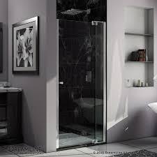800 Pivot Shower Door by Shop Dreamline Allure 36 In To 37 In W Frameless Chrome Pivot