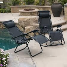 Patio Lounge Chair Cushions Lounge Chair Patio Set 2 Folding Zero Gravity Reclining Lounge