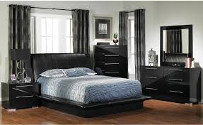 bedroom 2017 design black leather bed frame with headboard grey