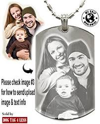 customized dog tag necklace personalized custom photo color and engraved dog tag